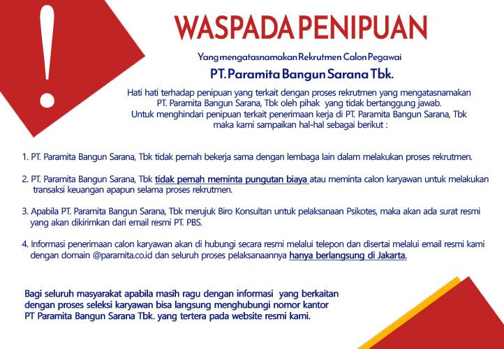 Pt Paramita Bangun Sarana Tbk Building Industrial Civil